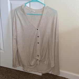 Maurices cream colored light long sleeve